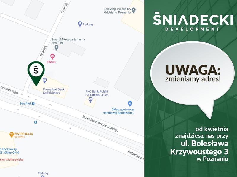 Zmiana adresu Sniadecki